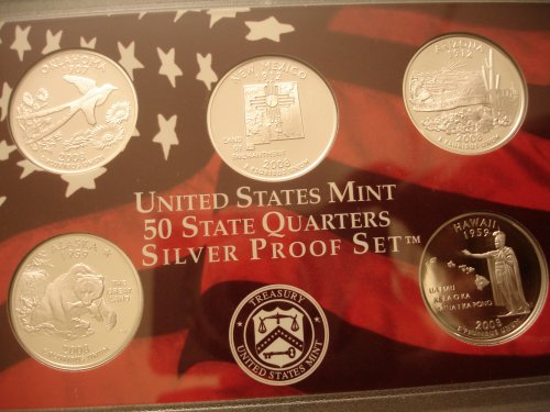 2008 Silver Proof Quarter Reverse