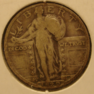 1929 D Standing Liberty Quarter Type II Obverse