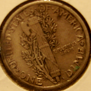 1917 Mercury Dime Reverse