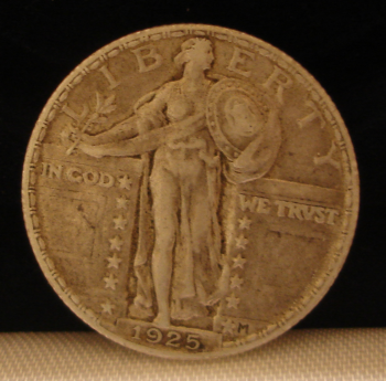 1925 Standing Liberty Quarter Obverse - Very Fine