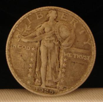 1925 Standing Liberty Quarter Obverse - Very Fine