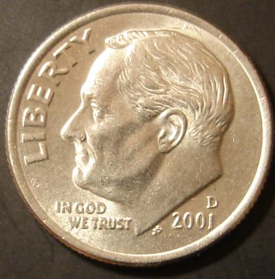2001 -D Obverse Dime