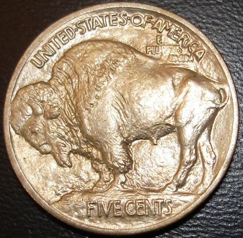 Reverse 1913 Type One Buffalo Nickel