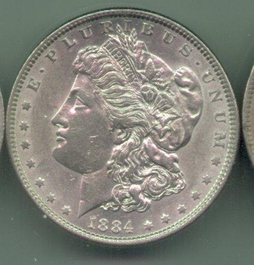 Morgan 1884 Obverse