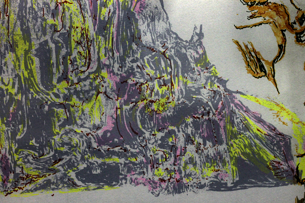 Detail of The Blue Cliffs - Adjusted