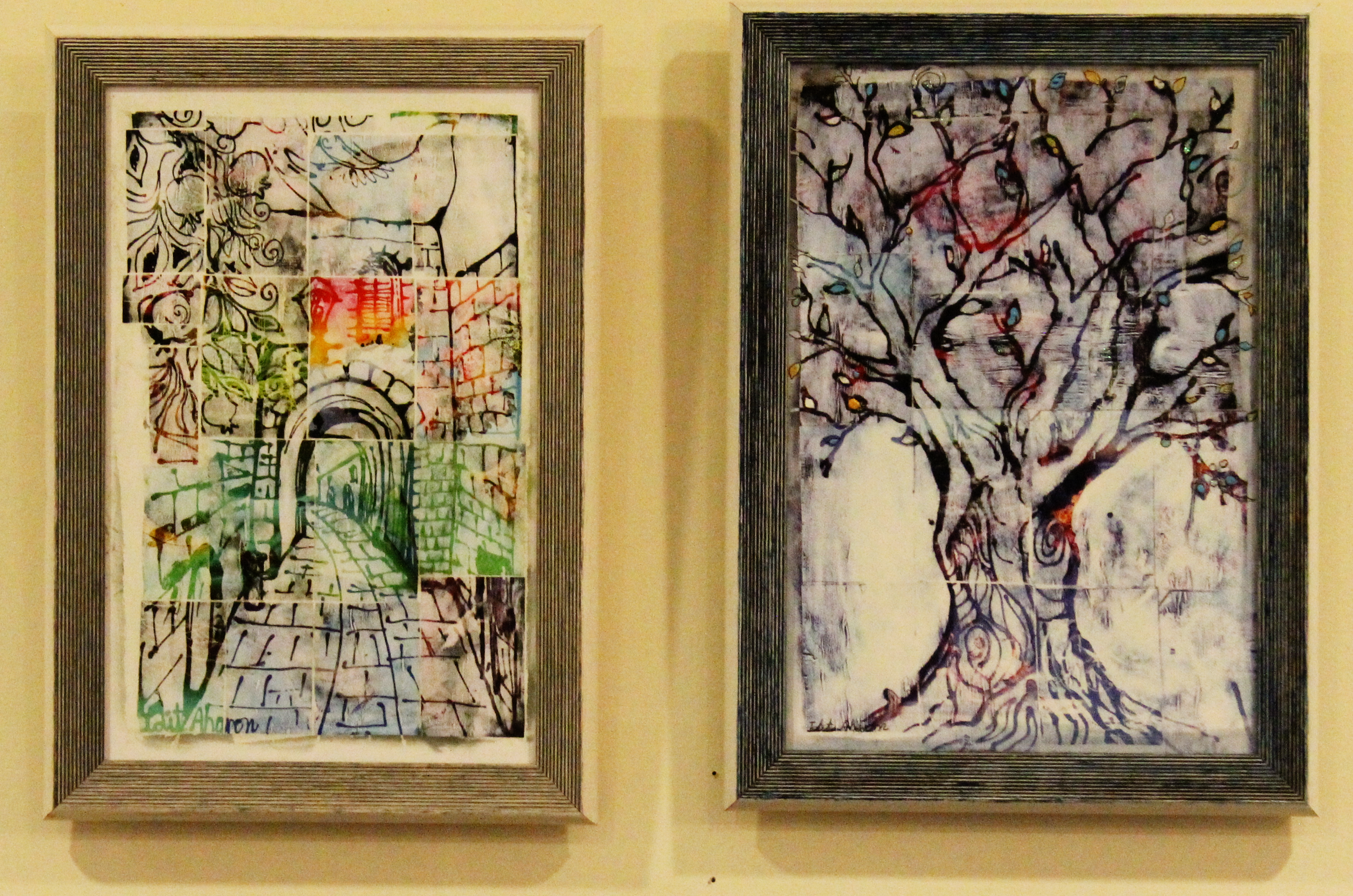 Idit Aharon - Pair of paintings