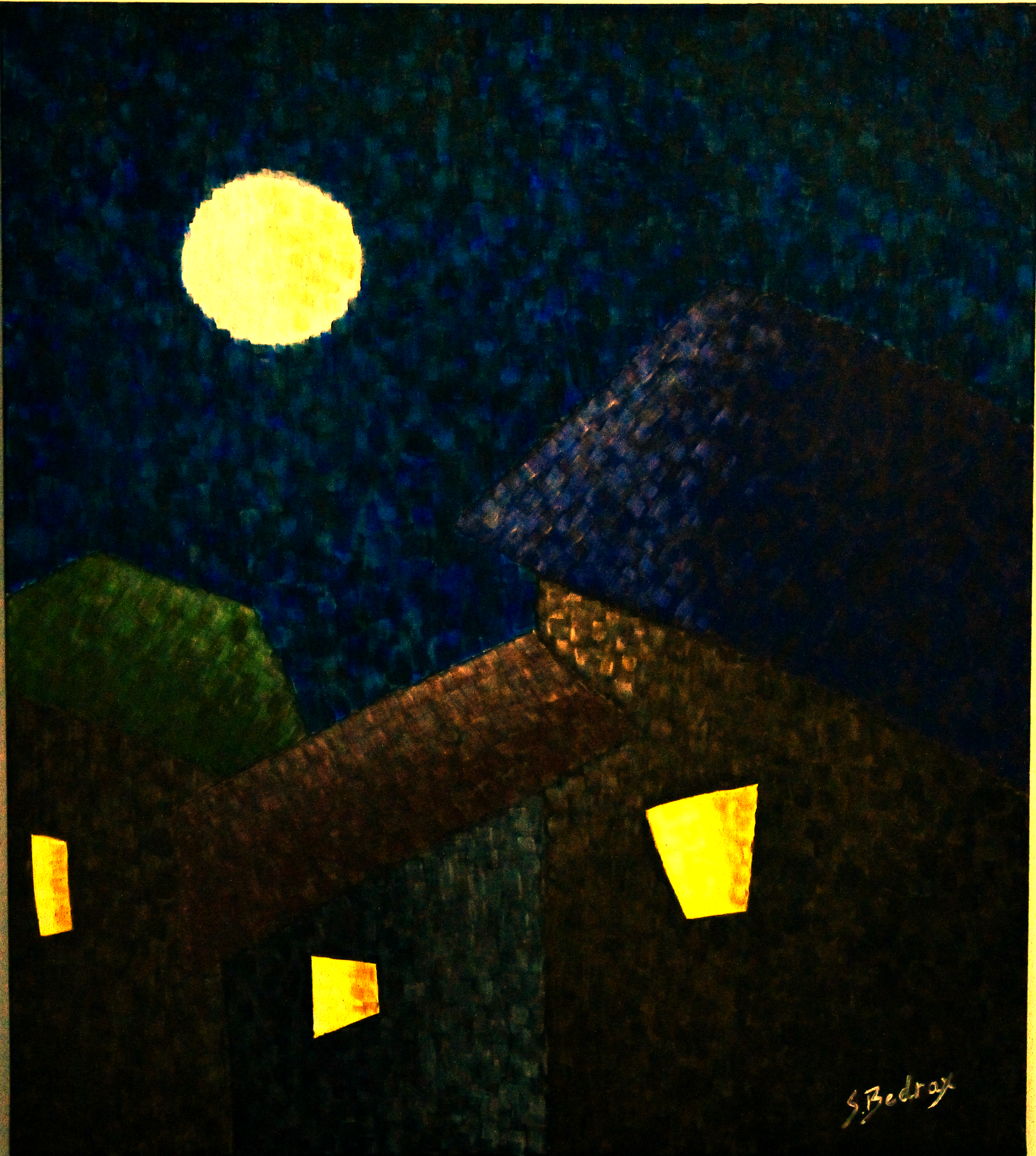 Susie Bedrax - The Village at Night